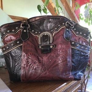 American West Medium Leather Handbag